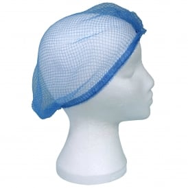 843K Heavy Duty Knotted Blue Hairnets (pk 100)