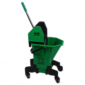 992947 Green Bucket and wringer combo on wheels 20lt (each)