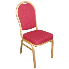 Bolero Aluminium Arched Back Banquet Chairs (Box 4)