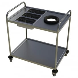 Craven Two Tier Waste & Cutlery Trolley (Direct)