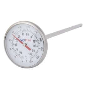 Hygiplas 32mm Dial Thermometer -10/100c 0/220F