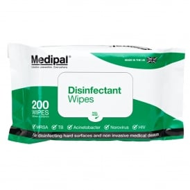 Medipal Disinfectant Wipes (pk 200)
