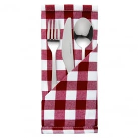 Palmar Gingham Red & White Napkin