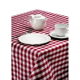 Palmar Gingham Red & White Tablecloth