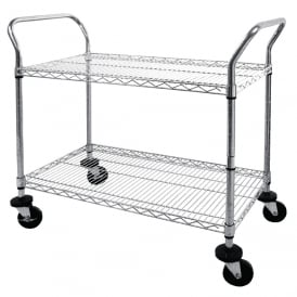 Chrome Wire Trolley
